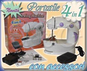 Mini macchina da cucire portatile da viaggio utile in casa for Mini macchina per cucire