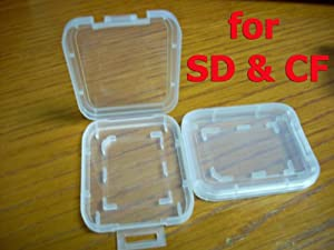 "10 pcs SD CF Memory Card Plastic Storage Jewel Case (memory card not included) (2 1/16"" x 1 11/16"" x 5/16"")"