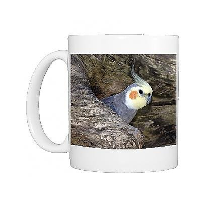 Photo Mug Of Cockatiel At Entrance To Nest In Hollow Tree From Ardea Wildlife Pets
