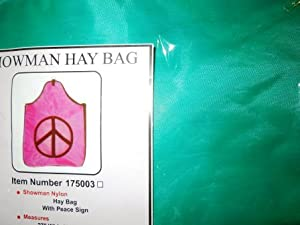 Horse Nylon Hay Bag W Peace Sign Cutout Center Nip! (Teal)