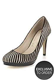 Autograph Leather Striped Platform Court Shoes with Insolia®