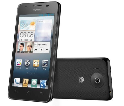 SIMフリーHuawei G510 / U8951D Android4.1スマートフォン4.5インチFWVGA-IPS/デュアルコア1.0GHz/3G+GSMデュアルSIM/日本語化[並行輸入品] モバイルバッテリー国際電話プリカ付(ブラック)