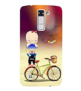 Vizagbeats Boy on bicycle Back Case Cover for LG K10