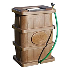 Achla RB-03 50-Gallon Wood Grain Rain Catcher