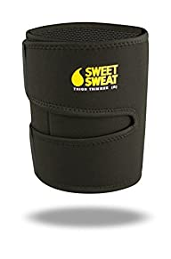 Sweet Sweat Thigh Trimmers (Yellow Logo) with Bonus Sweet Sweat Workout Enhancer Sample | Includes 2…