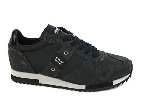 Blauer USA 6FRUNLOW/TAS Sneakers Uomo Pelle Black Black 44