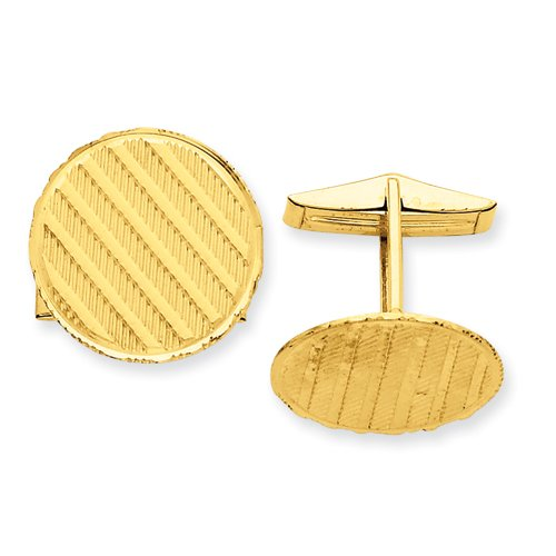 14k Gold Cuff Links Real Goldia Designer Perfect Jewelry Gift