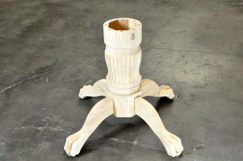 "BBO L1 ""Duke"" Solid Wood Pedestal Poker Table Leg - Unfinished"