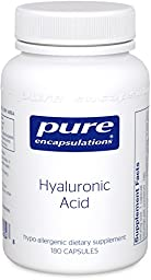 Pure Encapsulations - Hyaluronic Acid - Hypoallergenic Supplement Supports Skin Hydration, Joint Lubrication and Comfort* - 180 Capsules