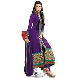 London Beauty Purple Long Straight salwar suit