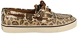 Women\'s Sperry Bahama Sand Leopard Cogna Dark Brown 9448283 Boat Shoe (Womens 9.5)