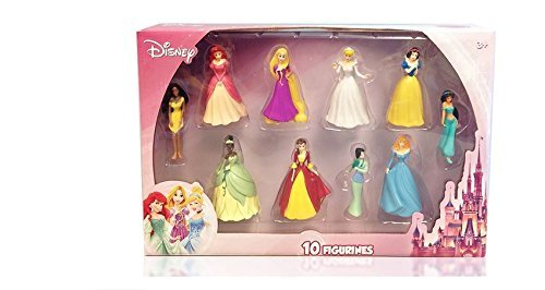 Disney-Princess-10-pc-Figure-Collection-Cinderella-Sleeping-Beauty-Belle-Ariel-Pocahontas-Tiana-Jasmine-Snow-White-Rapunzel-Mulan