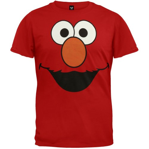 Sesame Street Elmo Face Men'S T-Shirt, Large/Red front-998940