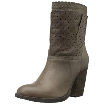 Go in for the fashion kill with the Kobrra. This Steven by Steve Madden boot is created with a super soft taupe leather upper and accented laser cut shaft. Sitting at 7 1/2 inches tall, this boot is perfect by a 3 1/2 inch block heel.