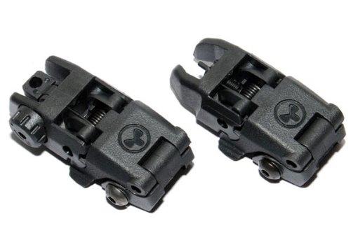 マグプルMAGPULタイプ バックアップサイトBACK-UP SIGHT ブラックBK ハイグレード(検)マルイ M4 サバゲー