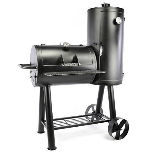 Smoker Grill Räucherofen BBQ Grillwagen XXXL 70 kg Barbecue 113 x 160 cm