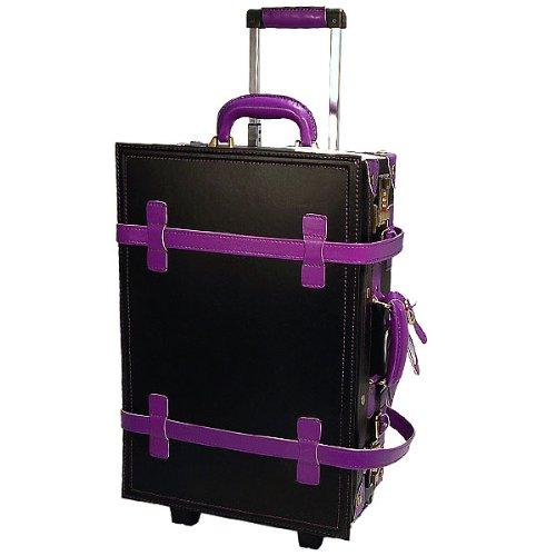 決算 ハナイズム トランクキャリーバッグ - HANA ism -S22 コスモブラック×グレープ/キャリーケース・スーツケース