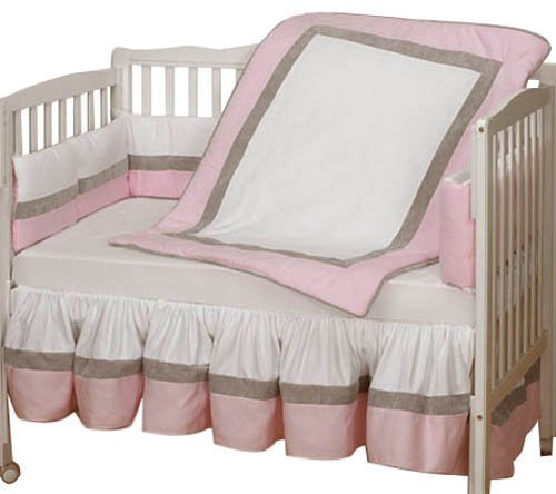 Baby Doll Bedding Classic Ii Cradle Bedding Set, Pink front-791949
