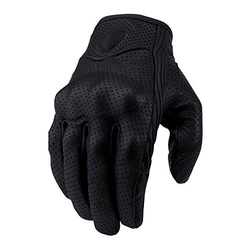 Motorcycle Riding Racing Bike Protective Armor Short Leather Gloves MESH