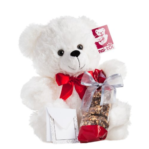 12″ Sweetheart Bear with Milk Chocolate Covered Peanuts — a Popular Valentine's Day Gift by Nut Roaster's Reserve