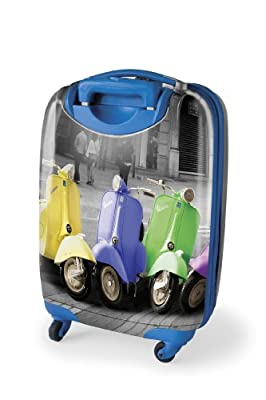 Lazy Days Vespa Hard Plastic Suitcase