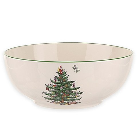Spode Christmas Tree 8-Inch Round Bowl 4 Spode Christmas Tree