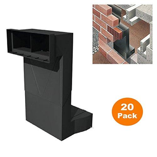 20 x Telescopic Adjustable Underfloor Cavity Vent Ventilator for Airbricks