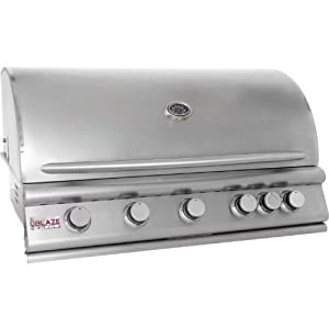 Blaze 40 Inch 5-burner Built-in Natural Gas Grill With Rear Infrared Burner by Blaze Outdoor Products