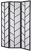 Roundhill 3-Panel Climbing Screen Room Divider Black