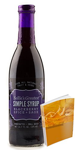 Blackberry Spice + Sage Simple Syrup from Sallie's Greatest All Natural Gluten Free Perfect for holiday gatherings | Handcrafted. With Free 67-page Cocktail Recipe Book (12.7 oz, Blackberry Sp Sage) (Syrup In My Soda compare prices)