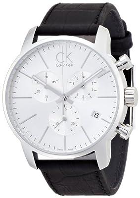 Calvin Klein K2G271C6 City Silver Black Chronograph Watch