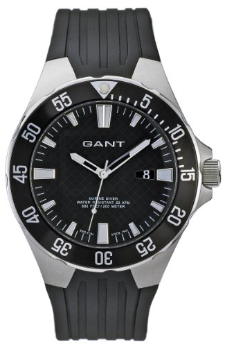 Gant Gents Rubber Strap with Black Dial Watch