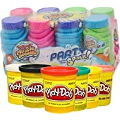 Super Miracle Bubbles 8 Party Pack And 6 Set Of Play Doh Play Day Bundle