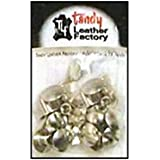 "Tandy Leather 1/4"" Nickel Chicago Screws 1290-02"