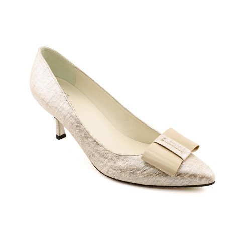 f24edf461fbb Stuart Weitzman Tuxbow Womens Size 11 Nude Textile Pumps Heels Shoes ...