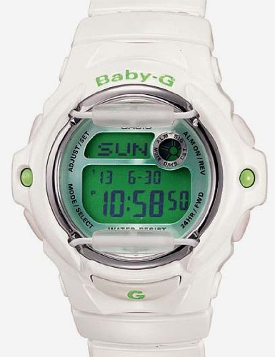 Casio Baby-G Whale Watch - Coconut White & Lime Green - 200 Meters - Databank