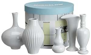 Rosanna American Bungalow White Mini Vase Set, Gift-boxed