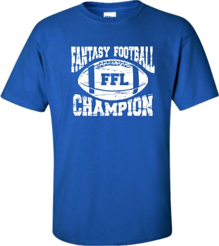 X-Large Royal Blue Adult Fantasy Football Champion FFL Champion T-Shirt (Fantasy Football Champion Tshirt compare prices)
