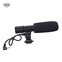 Sidande Mic-01 Digital Video DV 3.5mm Recording Microphone for Canon Nikon Pentax Olympus Panasonic Digital SLR Camera Stereo Camcorder