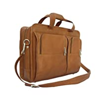 Piel Leather Professional Computer Portfolio, Saddle, One Size