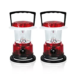 Life Gear LED Lantern with 3 Light Modes & Hang Anywhere Hook - 2 Pack