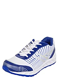 Zovi Men's Synthetic White And Blue Sports Shoes With Silver Accents (11116207901)