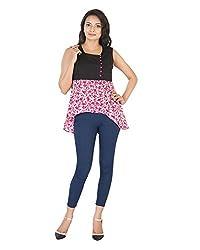 Parinita Women's Straight Sleeveless Top(150413_PINK-S, Pink, Small)