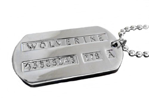 "X-Men Double-sided WOLVERINE/LOGAN Stainless Steel DOG TAG w 24"" Chain"