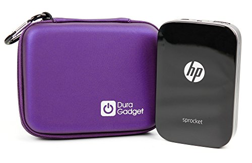 Purple EVA Case With Soft Lining - Compatible with the HP Sprocket Printer - by DURAGADGET