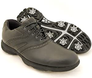 Buy New Mens Etonic Lite Tech LT80-1 Golf Shoes BLACK BLACK - Size 11.5 WIDE by Etonic