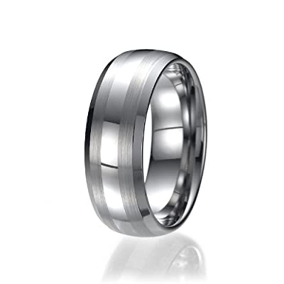 8mm Men's Tungsten Carbide Ring Wedding Band