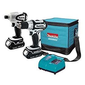 Factory-Reconditioned Makita LCT200W-R 18V Cordless Lithium-Ion Compact 2-Piece Combo Kit