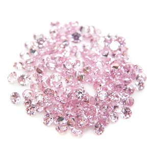 Round 2mm Pink CZ Cubic Zirconia Loose Stone Lot of 500 Pieces