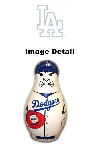 "Los Angeles Dodgers MLB Team Logo Double Sided Bop Bag Tackle Tackling Buddy Pal Inflatable Punching Bag - 12"" Inches Tall - Mini Size"